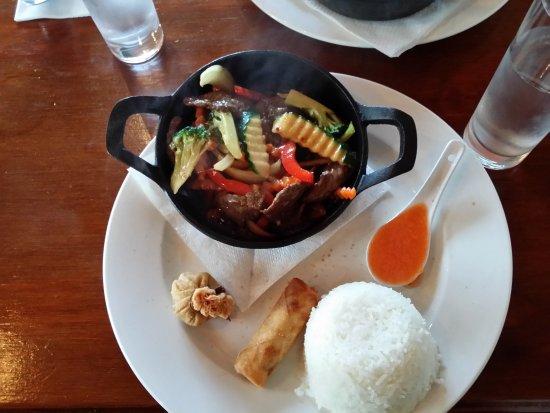 Ellerslie, New Zealand: Sizzling beef lunch
