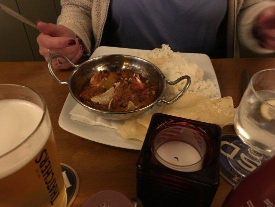 Pentewan, UK: Chicken Curry