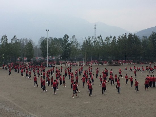 Dengfeng, China: Kung Fu school practice