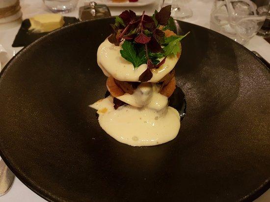 Saint-Etienne-au-Mont, France: Fois gras cuit et son sabayon (très léger)