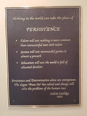 Plymouth, VT: Great quote by President Coolidge