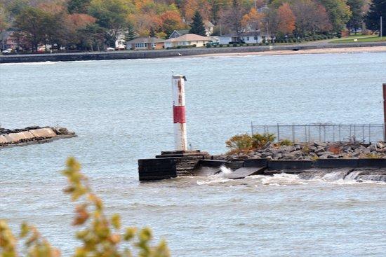Dunkirk, NY: Harbor breakwater.