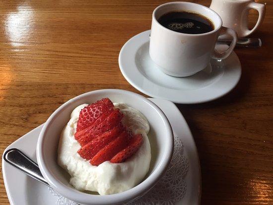 Black Rabbit Bar & Grill Dessert - Lemon Coddled Cream with Strawberries, Lakeville CT