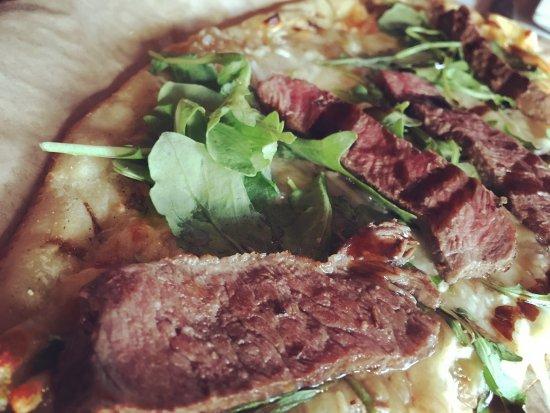 Milton, MA: Steak pizza yummy