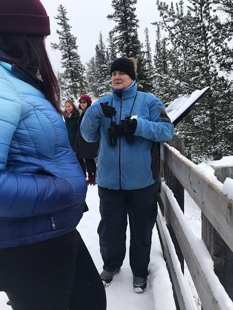 "Discover Banff Tours : Our AMAZING Denise (not ""Denephew"") sharing her knowledge! Miss her already! :-)"