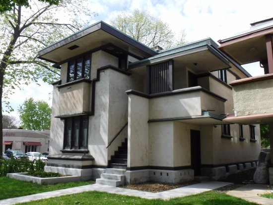 Tours of frank lloyd wright american system built homes for American home builders reviews