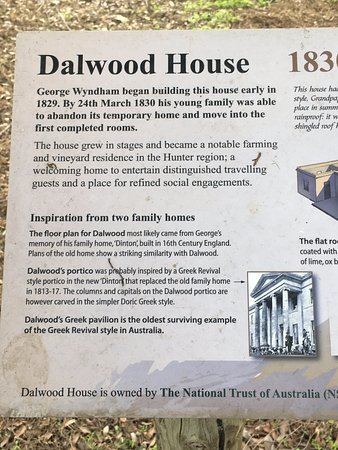 Branxton, Australia: Some info on Dalwood House.