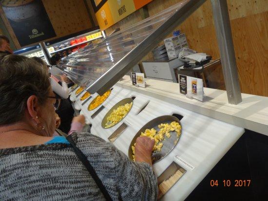 Tillamook, OR: Cheese tasting bar