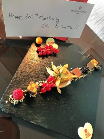 NH Collection Milano President: Lovely in-room greetings from NH kitchen