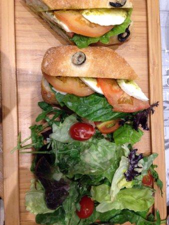 Sandwiches- salmon & cheese tomato