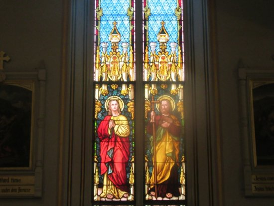 St Joseph Catholic Church One Of Several Stained Glass Windows