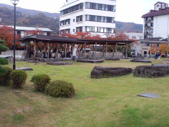 Suwa, Japonia: 訪湖間欠泉センター 足湯施設