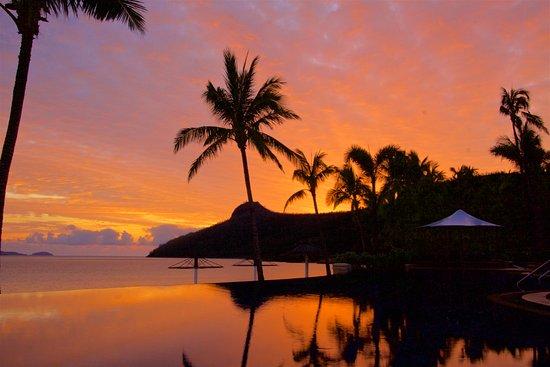 Beach Club: A Sunrise over the Infinity Edge Pool and Catseye Beach