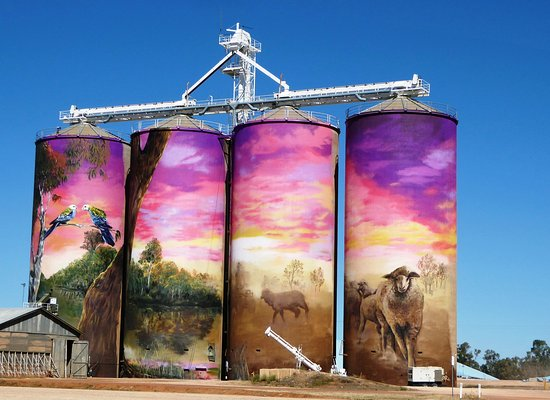 The silo murals at Thallon, well worth a look!