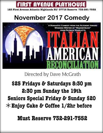 Atlantic Highlands, Νιού Τζέρσεϊ: November fun comedy runs through to November 25th
