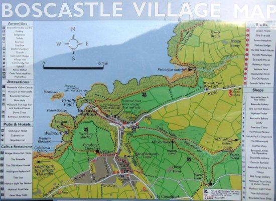 Map of Boscastle