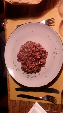 Schignano, Italia: risotto integrale bio con zucca, e taleggio