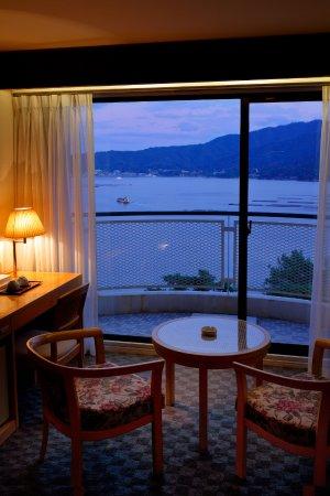 Aki Grand Hotel Spa Look View Of Miyajima Island From Twin Room