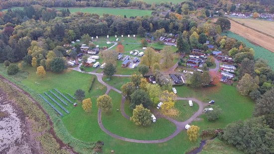 Bunchrew, UK: Taken from my quadcopter from approximately 100 metres, above the campsite.