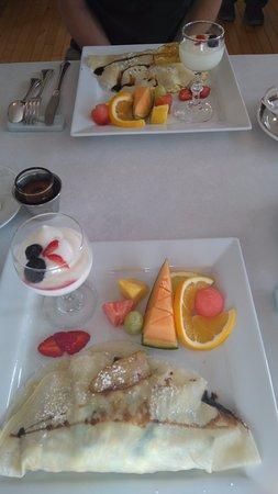 Inn on Frederick: Beautiful breakfast freshly cooked.