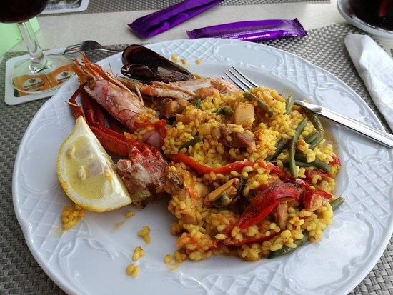 Restaurante Es Mollet De S'illot: Paella mit Fisch + Fleisch