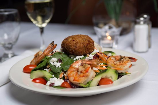 Laugh it up! Comedy Club: Our Shrimp Salad is to die for!