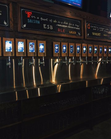 Maplewood, MO: Beer Tap Wall