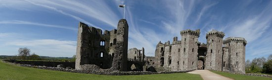 Raglan Castle panoramic