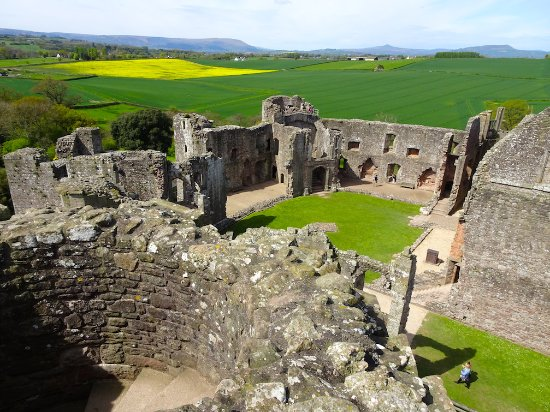 Raglan Castle view from turret/tower