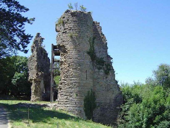 Chateau Chalon, France: Ruines