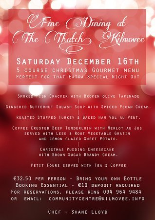 Kilmovee, Irland: Christmas Gourmet Pop Up Rest - 16th Dec 5 courses €32.50 and BYOB
