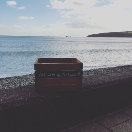 Laxey, UK: The view from The Shed