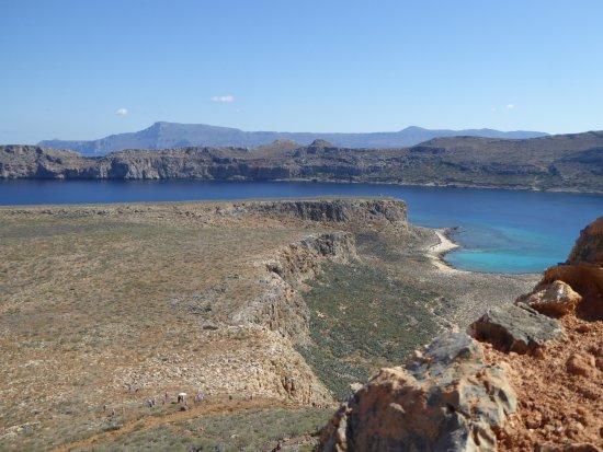Gramvousa, Greece: Du haut de la forteresse avec vue sur la baie de Balos
