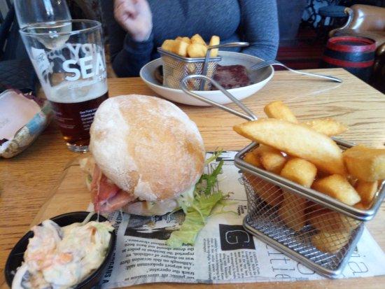 St. Mabyn, UK: Yum, yum, The Clucker, with Rump steak beyond...