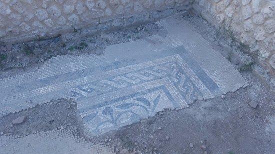 Aquinum Sito Archeologico: Mosaic being restored