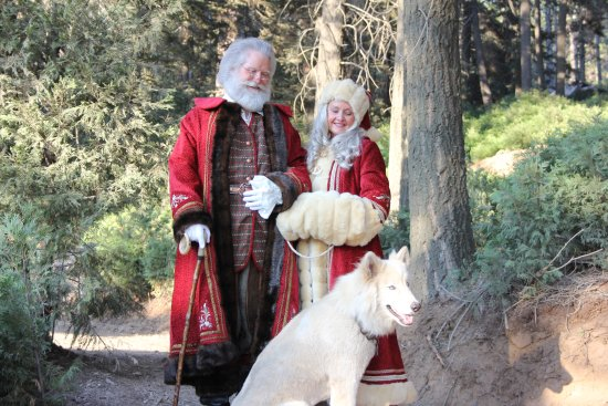 Skyforest, CA: Join Santa and Mrs Claus with their dog, Arrow in the forest this holiday
