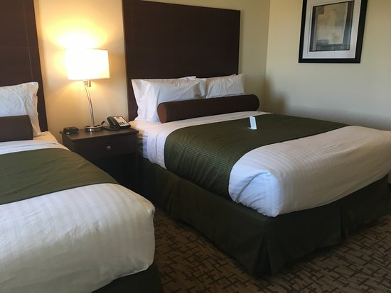 Cobblestone Hotel & Suites: This is a two queen bed non smoking room picture