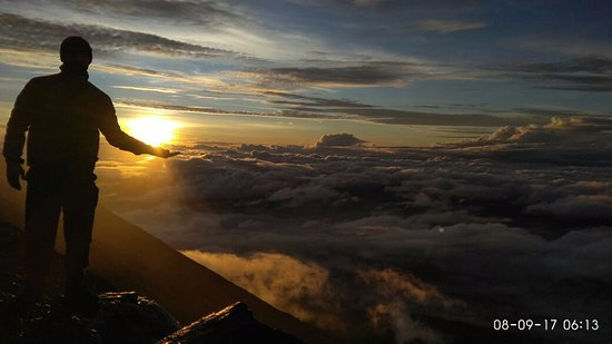 West Sumatra, Indonesia: near the top, which is cold and windy