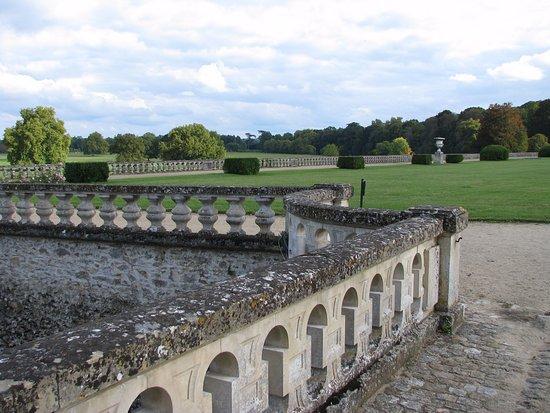 Château du Lude : une vue des jardins