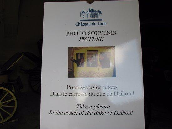 Château du Lude : les photos sont autorisées dans les calèches