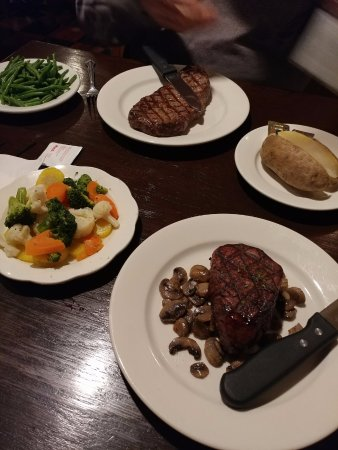 Pine Grove, PA: Delmonico steak and filet mignon with sauteed mushrooms