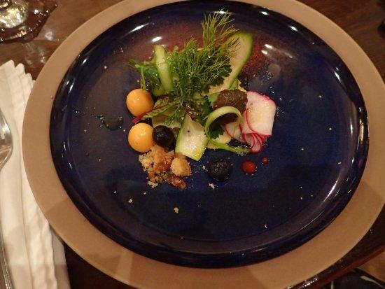 El Castillo Hotel: Vegetable appetizer by Pablo.