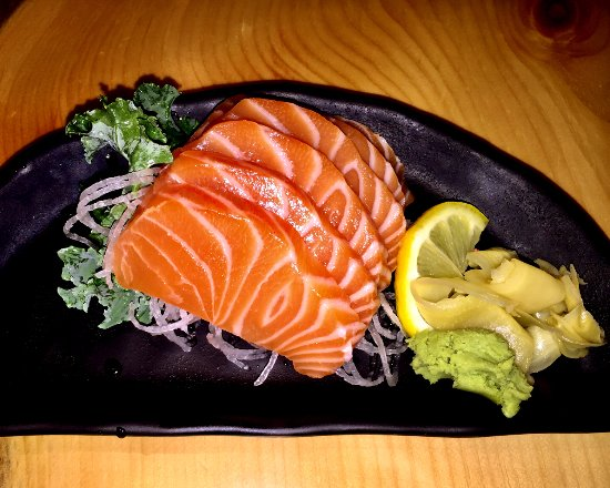 King City, Kanada: Salmon Sashimi