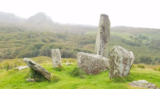 Gleninchaquin: Misty Morning at Glenchaquin Stone Circle