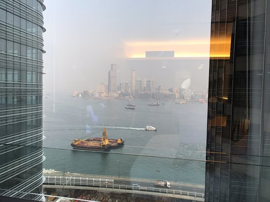 Harbour Grand Hong Kong: The harbor view is blocked by the building on left/right and my room is already on the 27/F