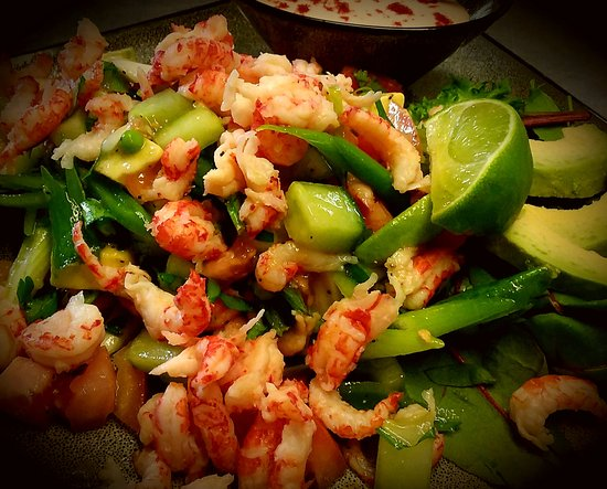 Woolpit, UK: Crayfish & Avocado Salad