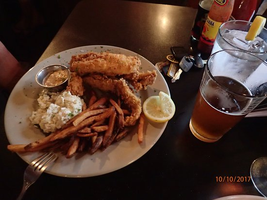 Iron Horse Station: fish and chips. Very good