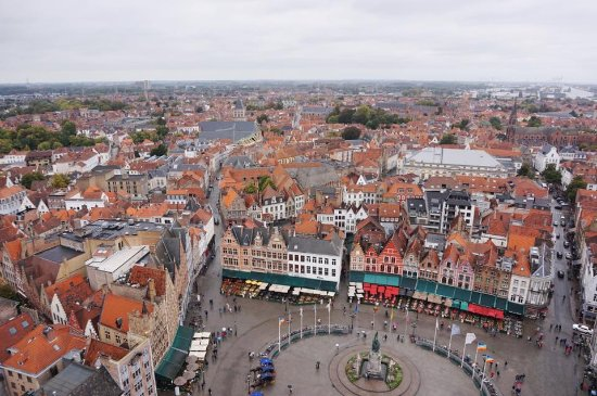 view of the markt from the belfort Picture of Belfort Bruges