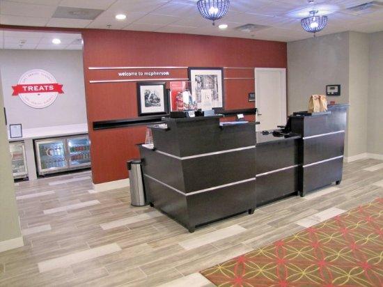 McPherson, KS: Front desk area