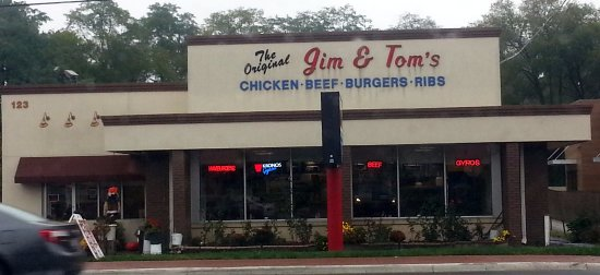 Bensenville, IL: front of & entrance to The Original Jim & Tom's